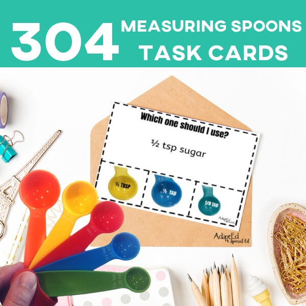 Task Cards that teach functional skills, this SPED teaching is in LOVE! Thanks for so many different levels of differentiation, and ALL THE VISUALS my ASD students need to meet success! #specialneeds #taskcards #specialed #functionalskills #adapted4specialed