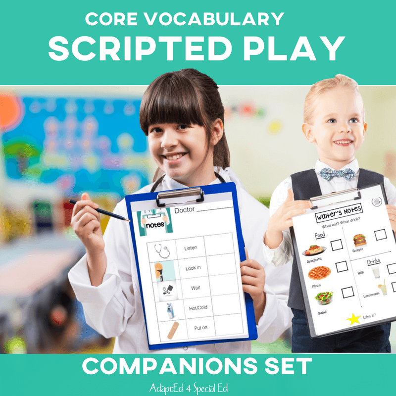 The gold medal in speechie stuff.  Seriously.  Teaching play skills AND fitting in AAC therapy activities?!?  Yes please! #corevocabulary #specialneeds #slp #adapted4specialed