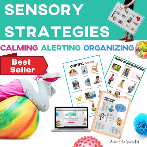 Sensory Classroom Strategies OT Calming Alerting Preschool Kindergarten Special Ed Special Needs Autism ASD Cover Best Seller