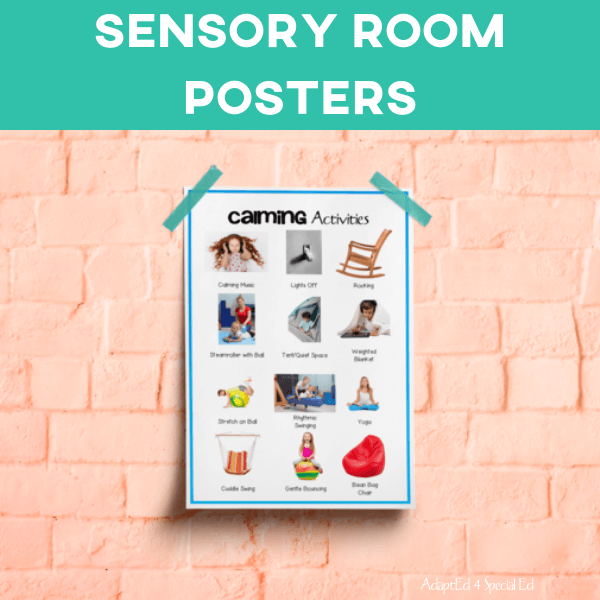 Sensory Room Posters: Set of 4 (Printable PDF)