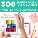 Top Middle Bottom Position Words Task Cards 3 Differentiated Levels Special Education Autism Classroom