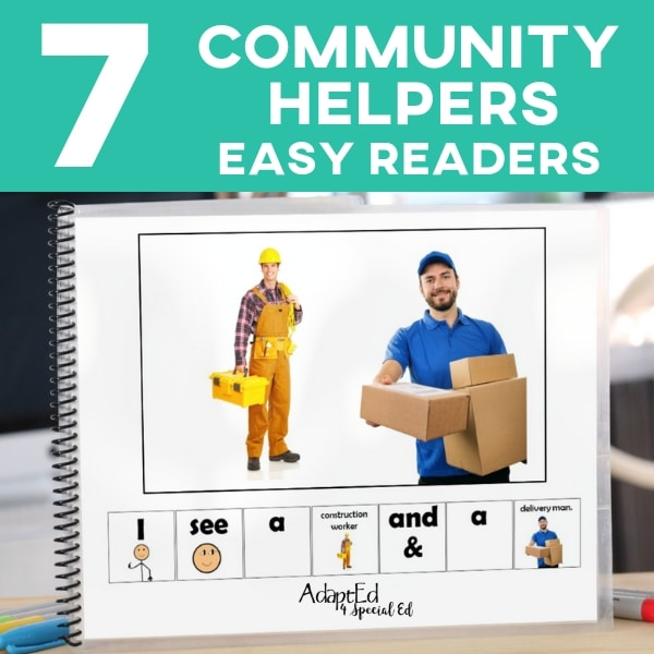 Emergent readers are a teachers best friend! Perfect way to fill your lesson plans to teach sight word, boost reading confidence, community helpers, and more! Great for preschool, kindergarten or special education. Digital books can be NO PREP on the ipad or digital devices. #specialneeds #adapted4specialed