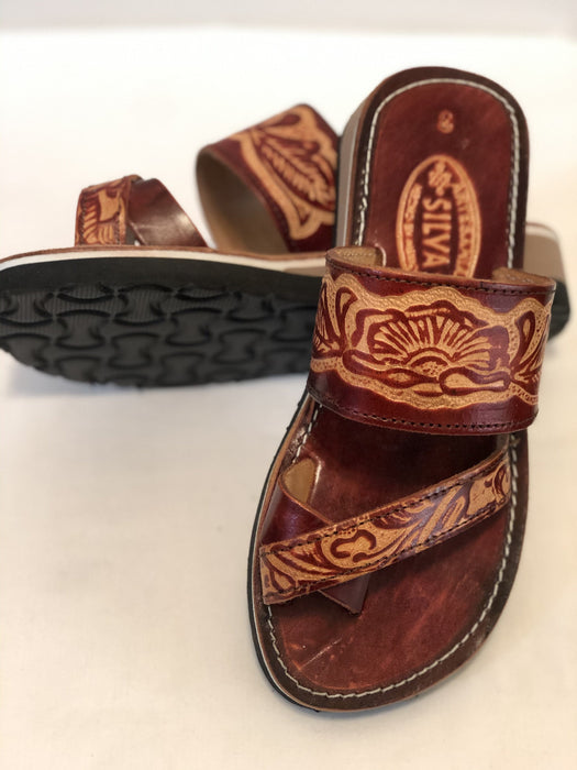 Leather Sandal - Aztec Toe Ring