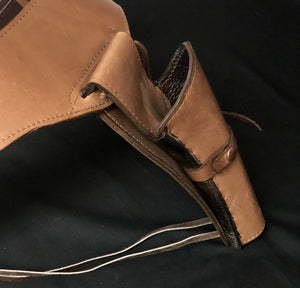 Brown Western Gun Belt Holster