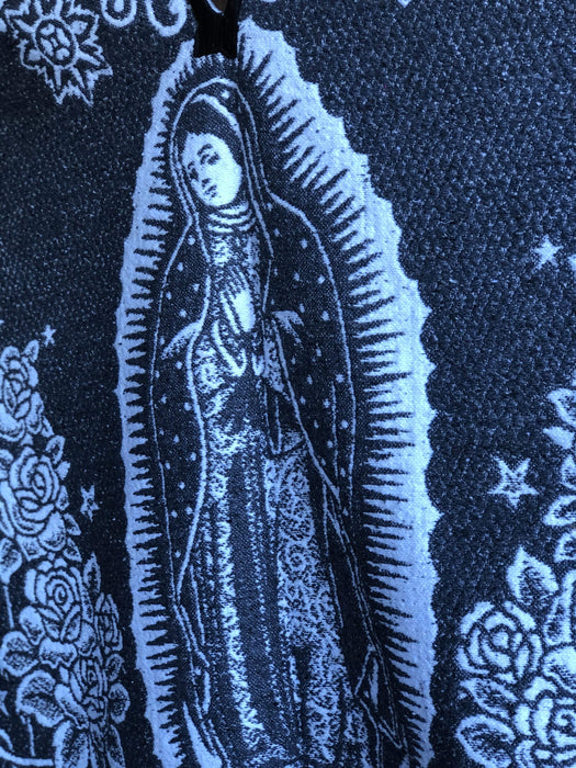 White and Grey Virgen de Guadalupe Poncho/Gaban