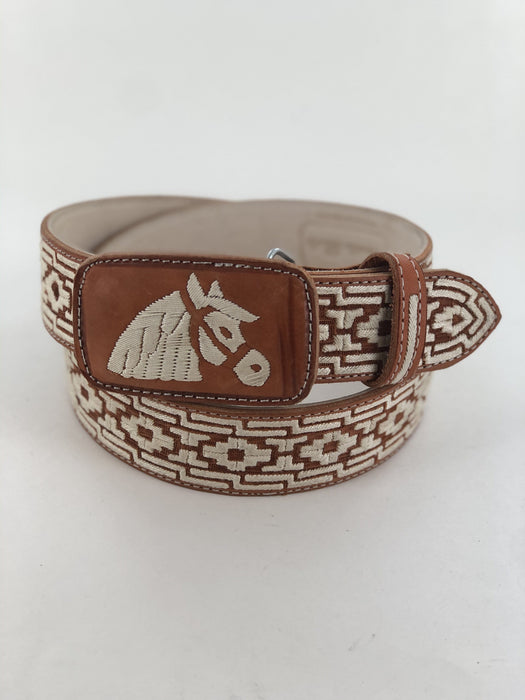 Horse with Roots Grecca Chedron Cinto Piteado Original