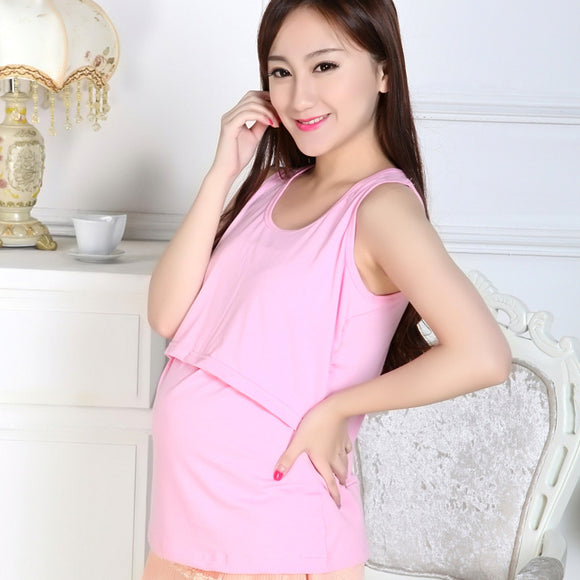Maternity Feeding vest Pregnant Maternity Clothes Nursing Tops Breastfeeding Vest T-Shirt drop shipping