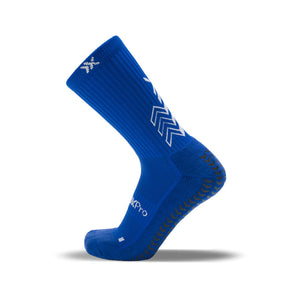 SoxPro Grip Sock Anti-Slip Crew  Royal Blue Performance Socks
