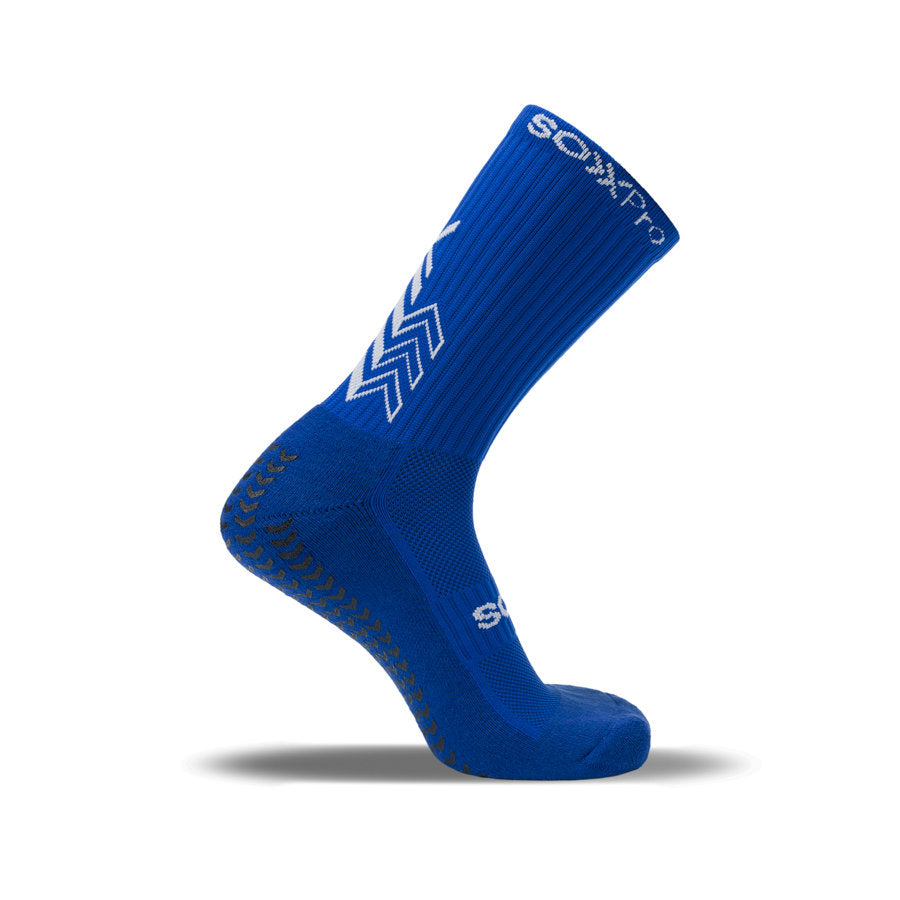Sox Pro Grip/Anti-Slip Royal Blue Performance Socks