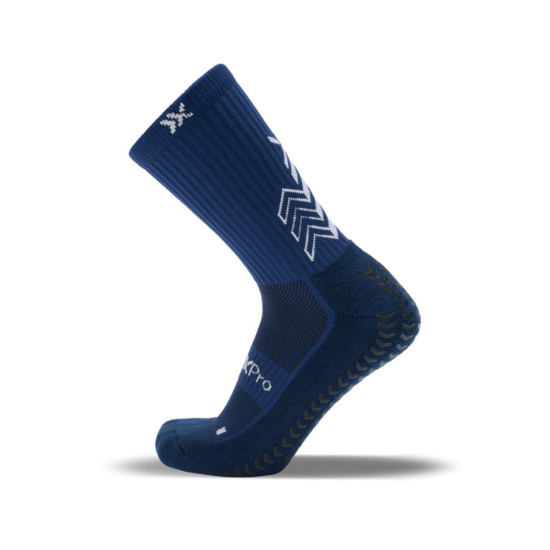 SoxPro Grip Sock Anti-Slip Crew  Dark Blue Performance Socks