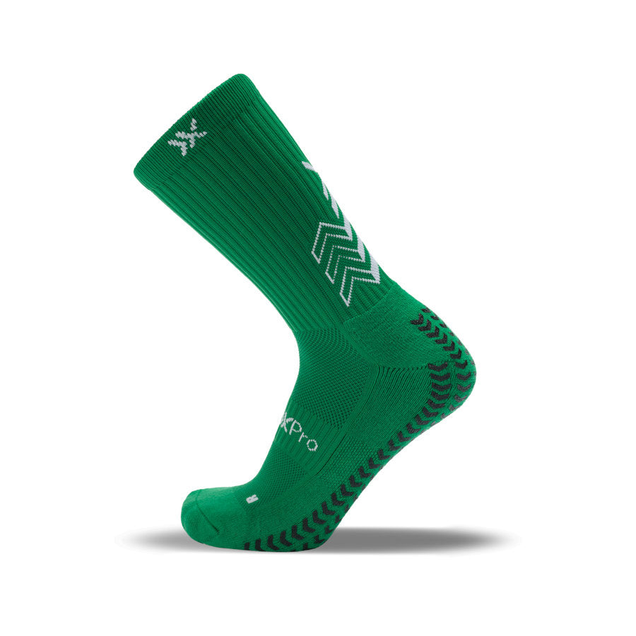 SoxPro Grip Sock Anti-Slip Crew  Green Performance Socks