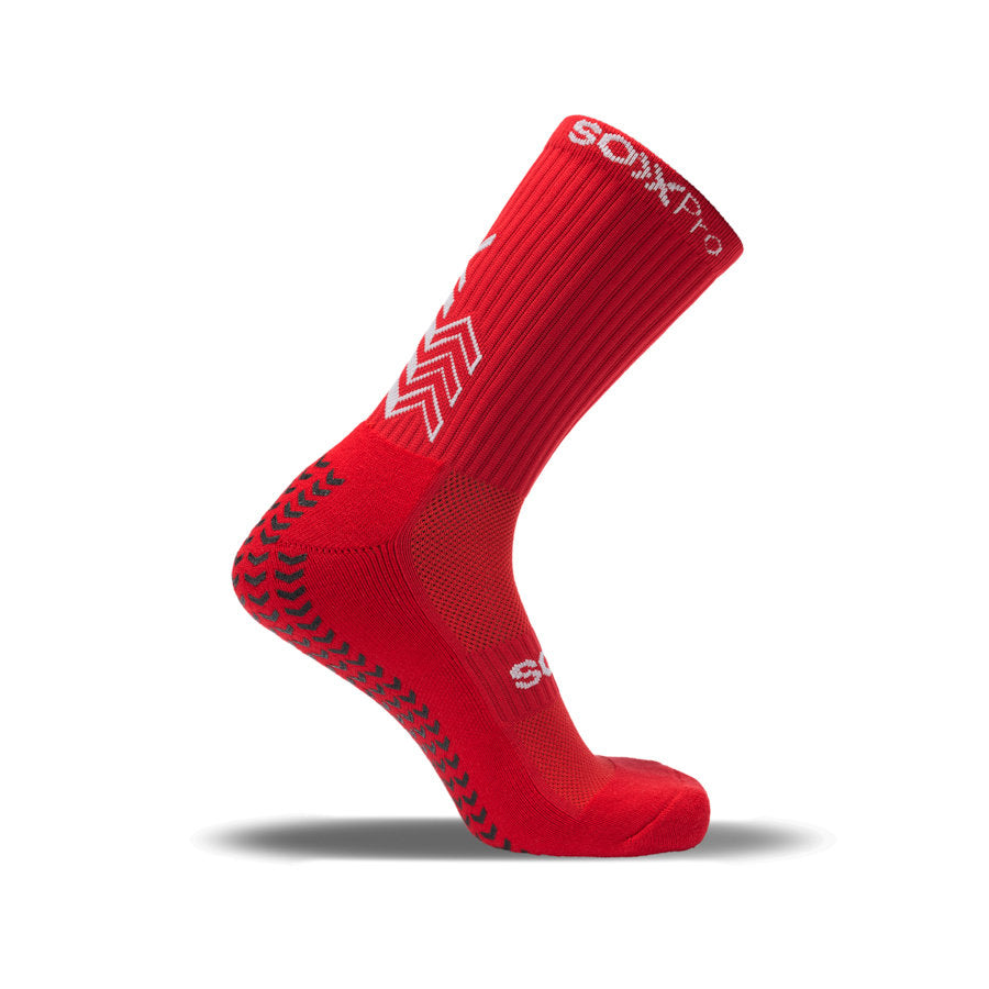 Sox Pro Grip/Anti-Slip Red Performance Socks