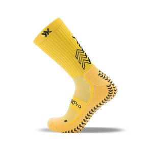 SoxPro Grip Sock Anti-Slip Crew Yellow Performance Socks