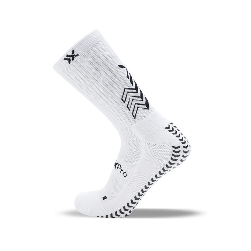 SoxPro Grip Sock Anti-Slip Crew  White Performance Socks