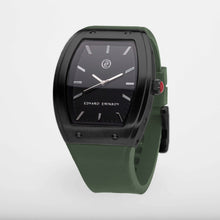 Exclusive and minimalistic black watch Edvard Erikson watch E2 Black Night Olive Green Edvard Erikson Watches is a Swedish watch brand made of Stainless steal 316L. Our E2 Watch is an elegant and luxury square shape watch for all occasions. Discover the complete collections of Edvard Erikson watches online.