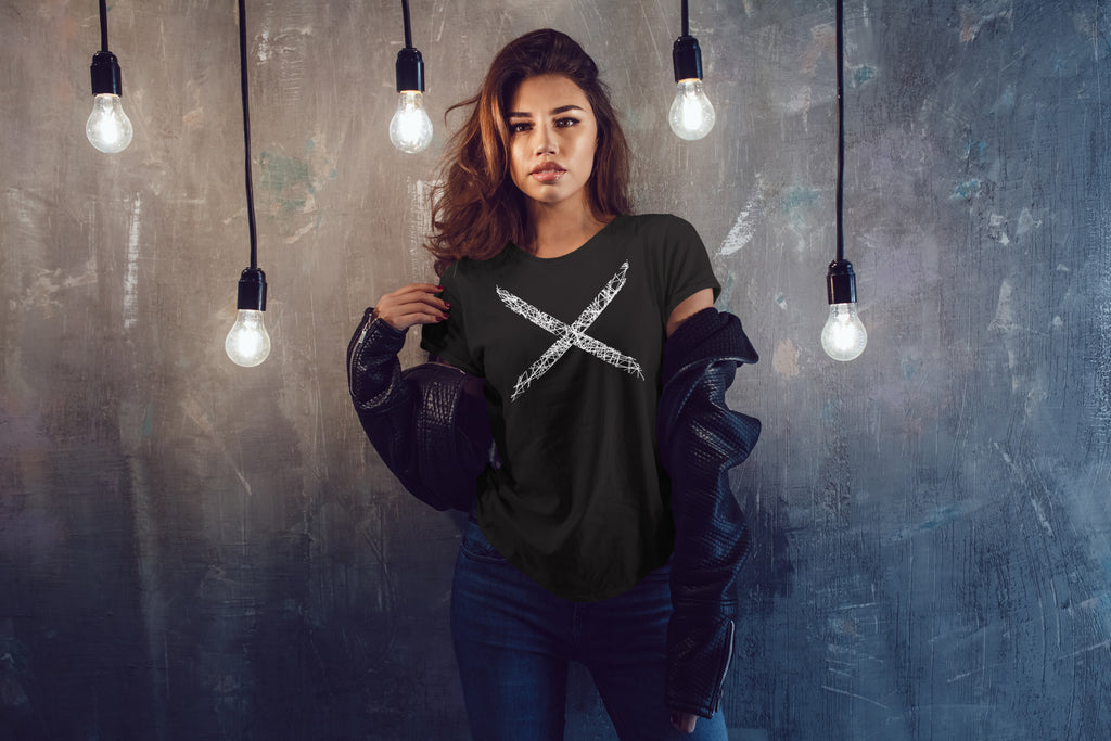 Woman wearing X Hero T-Shirt