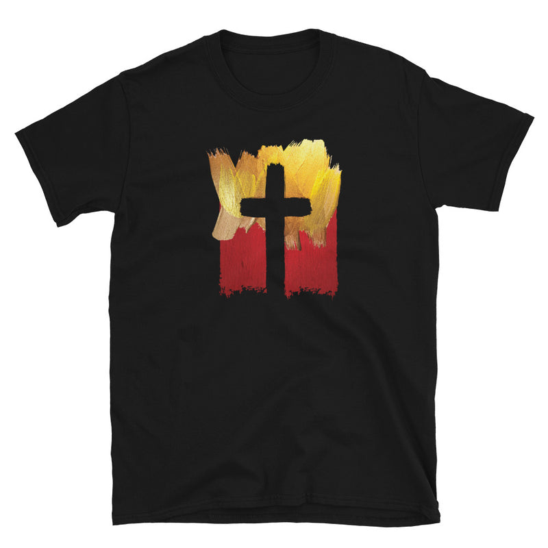 Hand Painted Artistic Cross T-Shirt