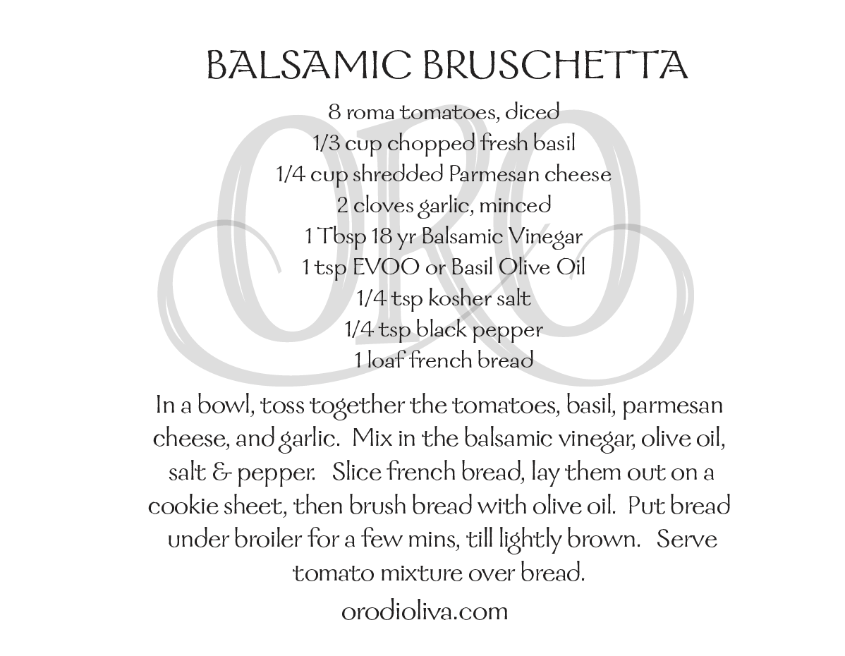 Balsamic Bruschetta