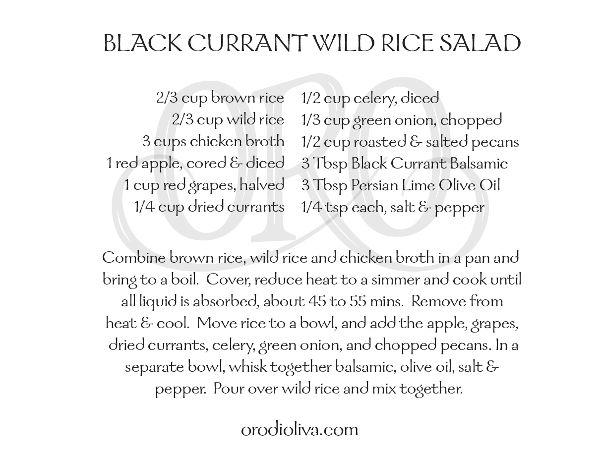 Black Currant Wild Rice Salad