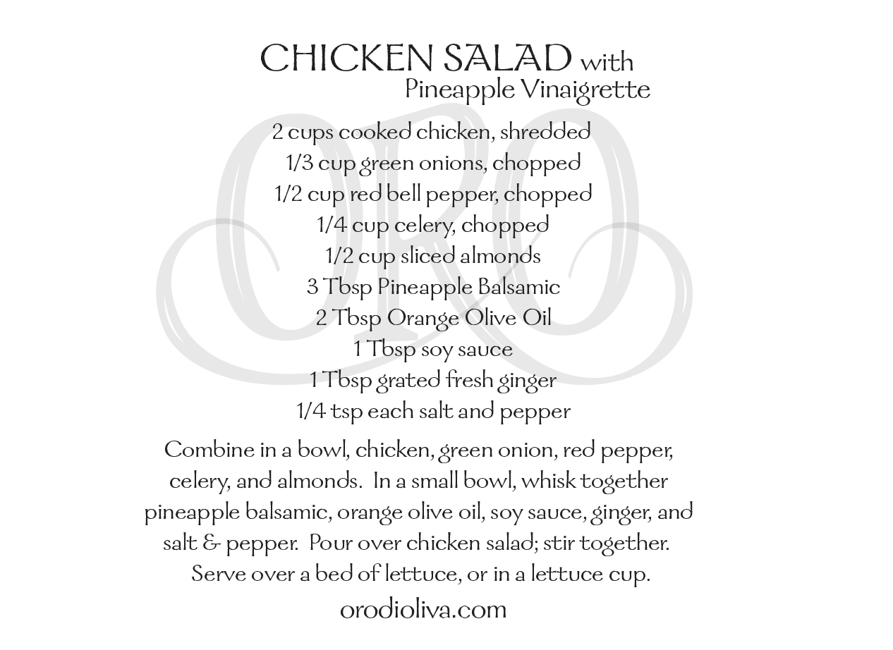 Chicken Salad with Pineapple Vinaigrette