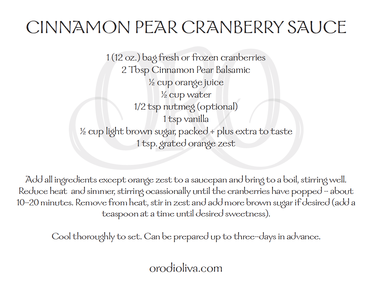 Cinnamon Pear Cranberry Sauce