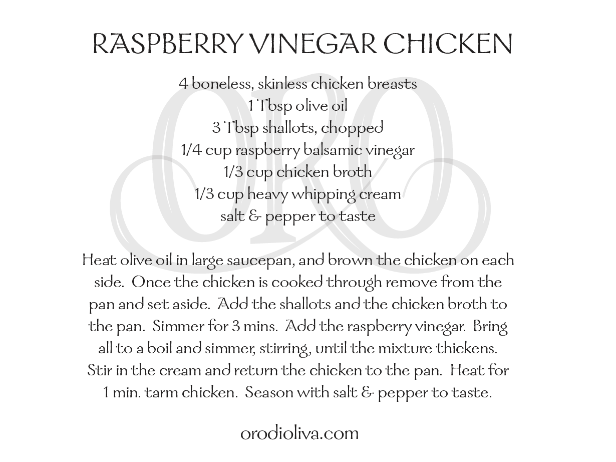 Raspberry Vinegar Chicken