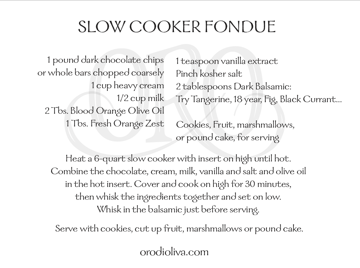 Slow Cooker Fondue