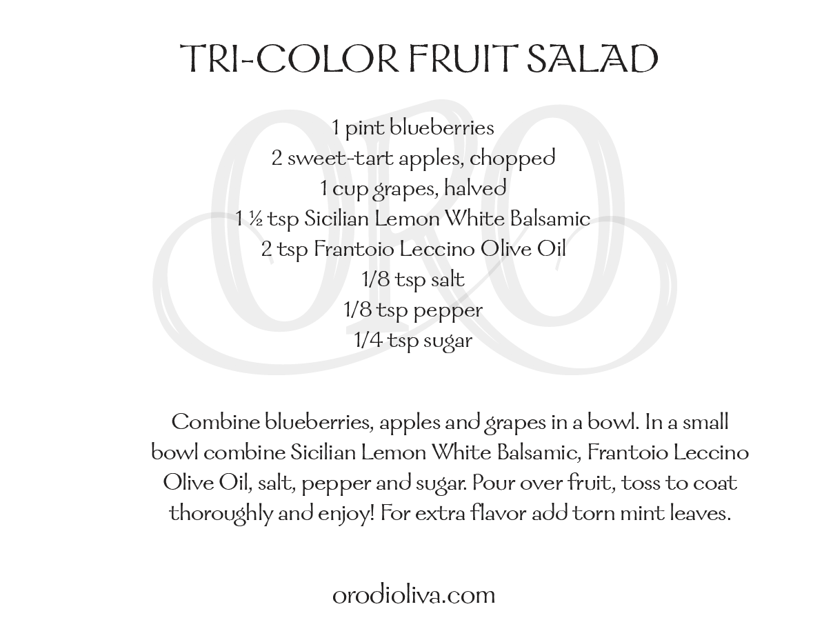 Tri-Color Fruit Salad