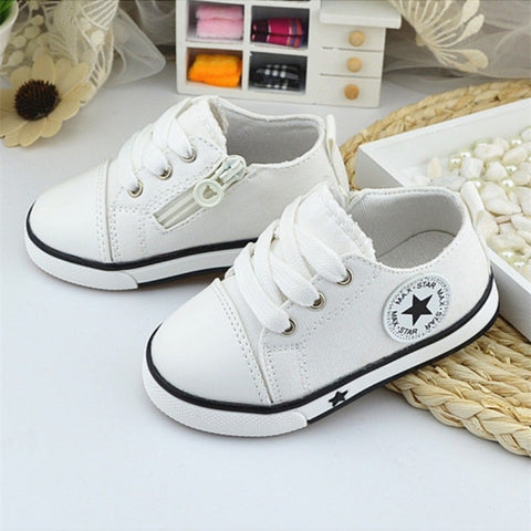 New Breathable Canvas Shoes 1-3 Years Old