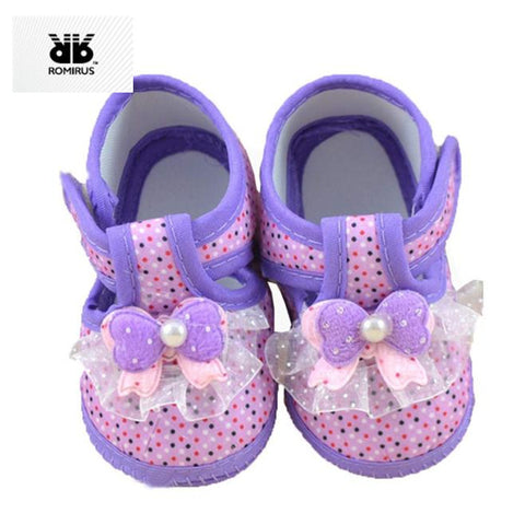 Princess Baby Girl Shoes First Walkers Soft