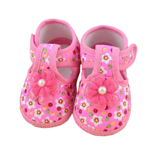 Baby Shoes Baby Flower Boots Soft Crib Shoes for Girls