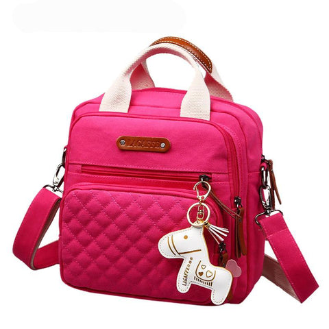 High Level Canvas Colorful Mommy Diaper Bag