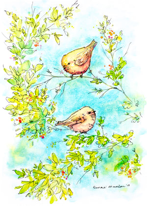 """Birds"" Denae Manion Print"