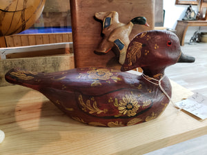 Hand carbed and painted wood duck