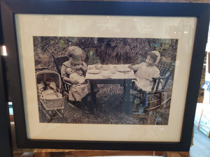 """Tea Party"" 1910's glass plate print"