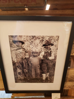 """Cops and Robers"" 1910's glass plate print"