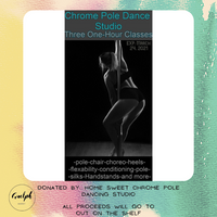 3 Class Pass - donated by Home Sweet Chrome Pole Dancing Studio-Guelph Market