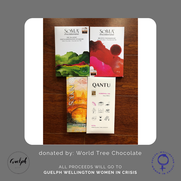 Craft Chocolate Pack - donated by World Tree Chocolate (Canada wide)-Guelph Market