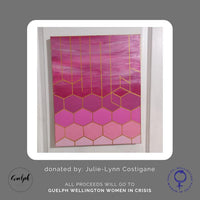 Geometric Style Painting 3 - donated by Julie-Lynn Costigane-Guelph Market