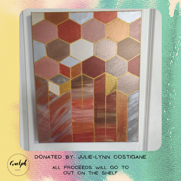 Geometric Style Painting (Copper) - donated by Julie-Lynn Costigane-Guelph Market
