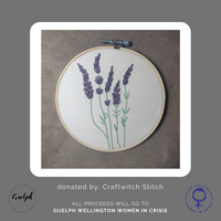 Lavender Embroidery Hoop - donated by Craftwitch Stitch-Guelph Market