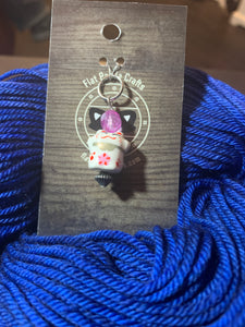 Chinese Lucky Cat - Purple Bead