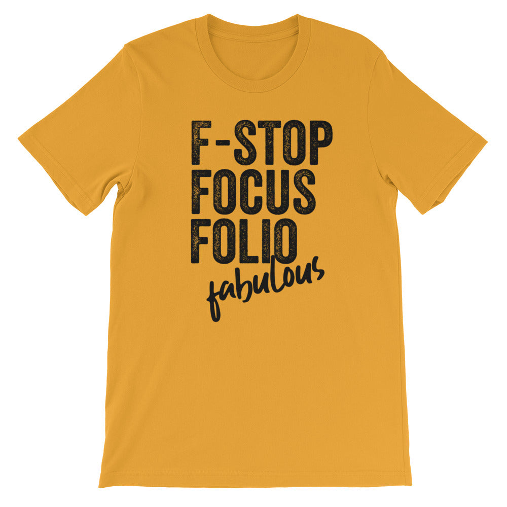 Photography F-words Women Tshirt Mustard