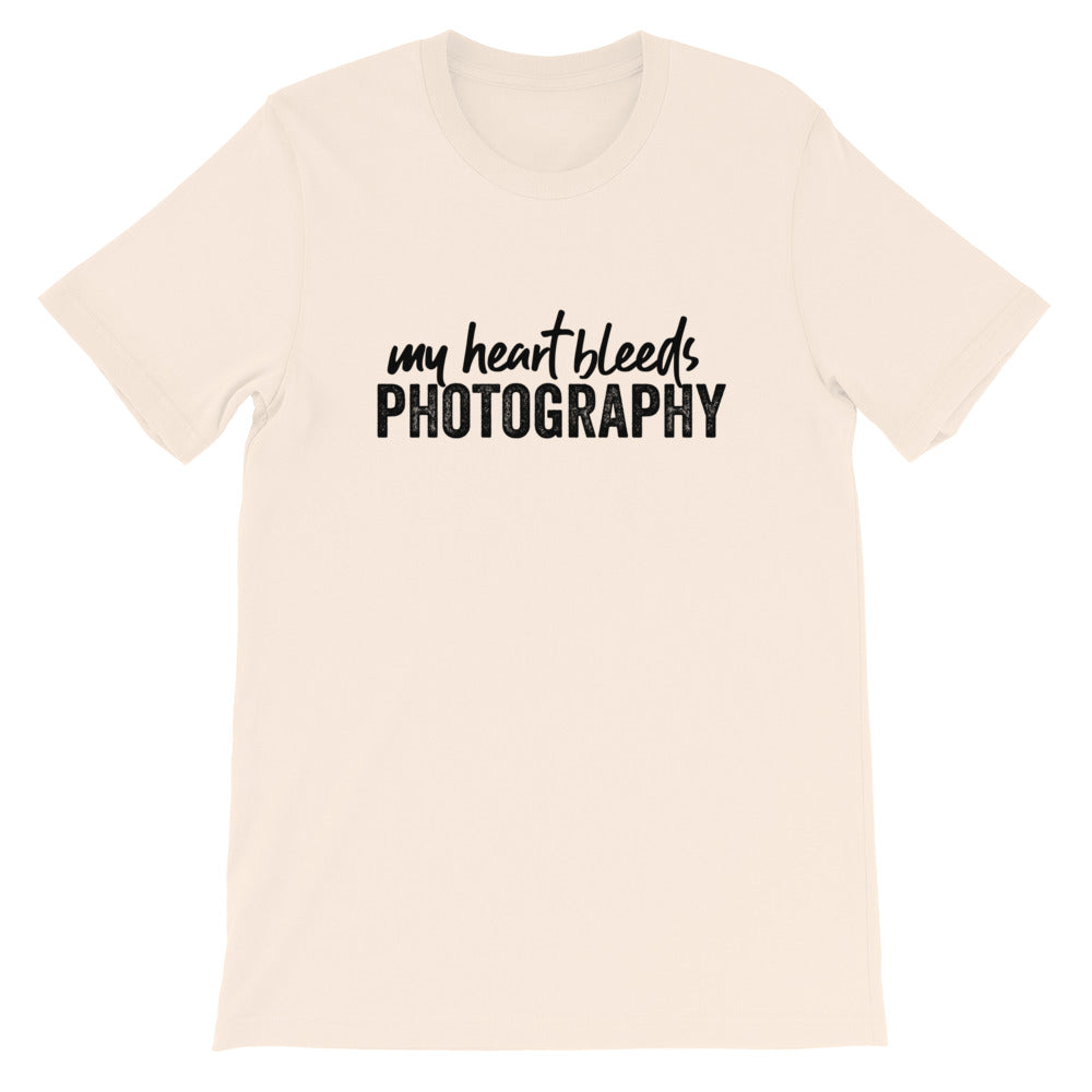 My Heart Bleeds Photography Crew Neck T-shirt
