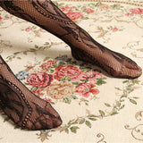 Fashion Black Sexy Charming Floral Soks