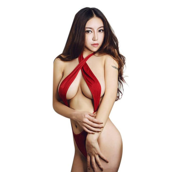 Women Sexy Three-Point Sexy Cross Halter Sexy Lingerie