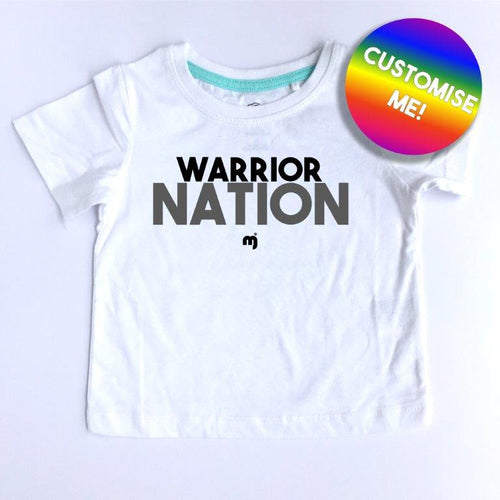 Warrior nation - Personalised boy's tee