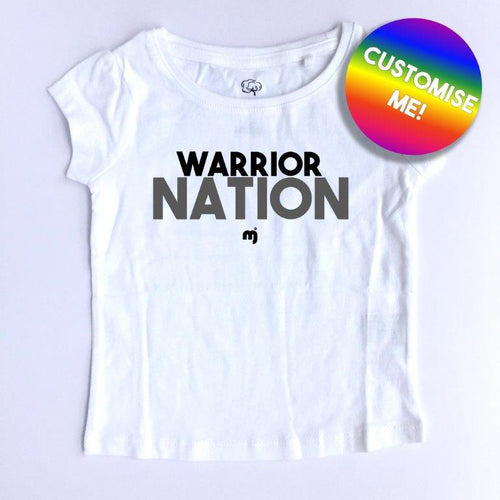 Warrior nation - Personalised girl's tee
