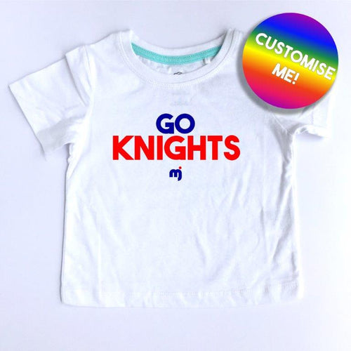 Go Knights - Personalised boy's tee