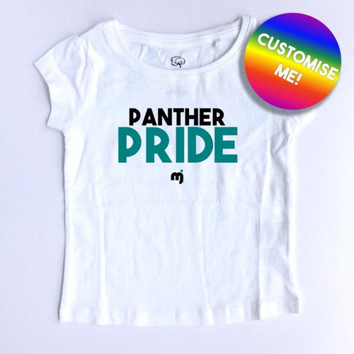 Panther Pride - Personalised girl's tee